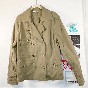 CAbi  Cotton/Spandex Perfect utility jacket